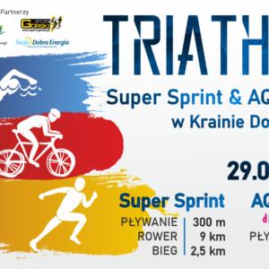 TRIATHLON Super Sprint & AQUATHLON w Krainie Dobrej Energii – Jezierzany 29.08.2021